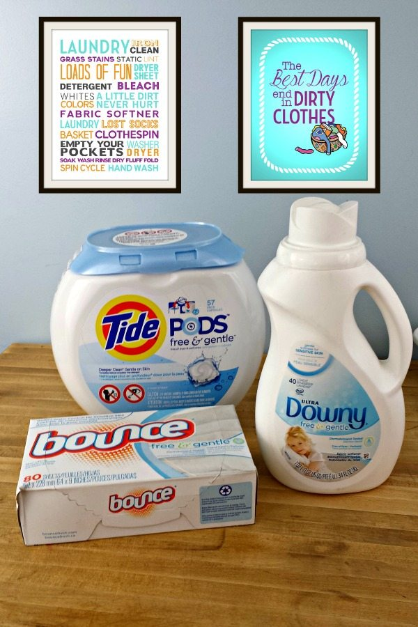 P&G Free & Gentle #SecondSkincare Review + Laundry Printables 600x900
