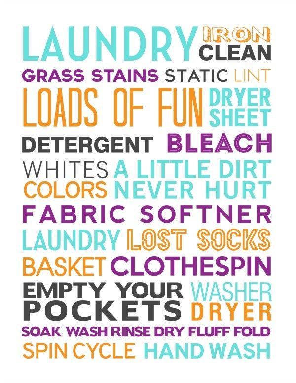Laundry Subway Art Free Printable - download at Juggling Act Mama