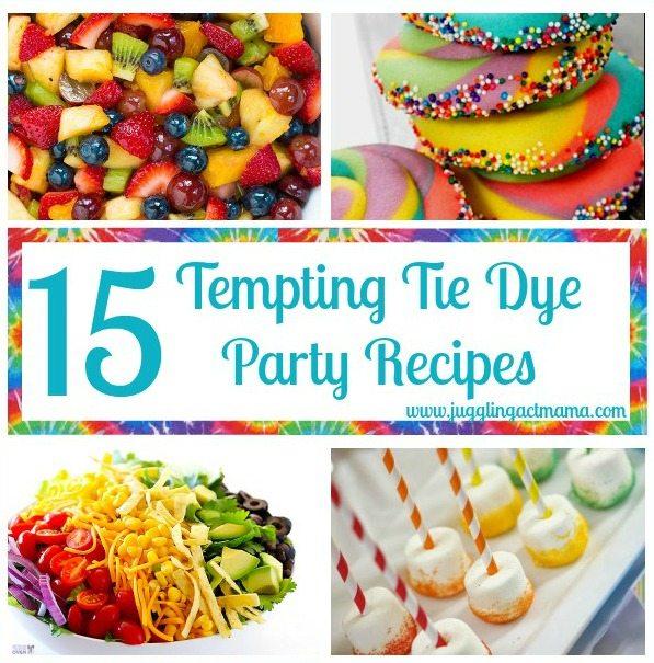 Tempting Tie Dye Recipes sq