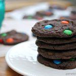 Chewy M&M Brownie Cookies