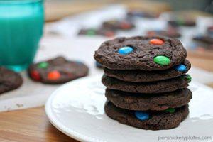 Chewy M&M Brownie Cookies
