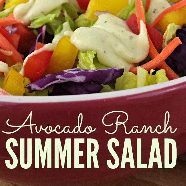 Avacado Ranch Summer Salad