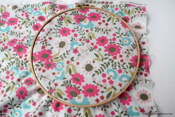 Embroidery Hoop Wreath from Dwelling in Happiness