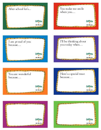 back to school lunchbox notes