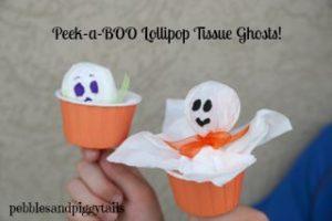 Peek-a-boo Lollipop Ghost