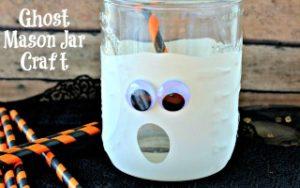 Ghost Mason Jar Craft