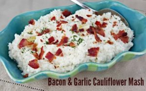 Bacon & Garlic Cauliflower Mash