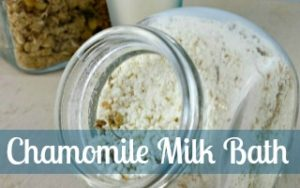 Homemade Chamomile Milk Bath