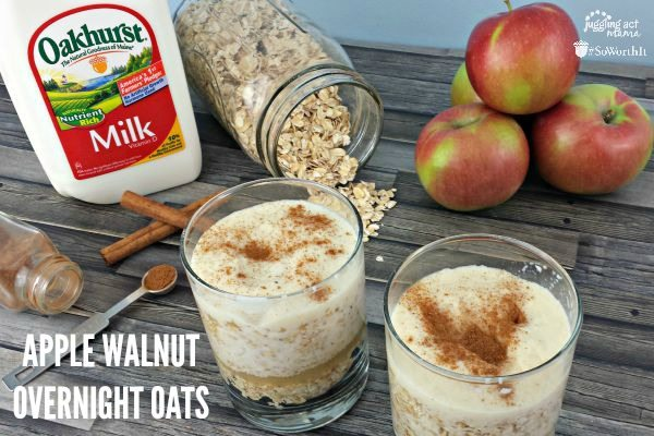Apple Overnight Oats with Walnuts