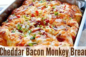 Cheddar Bacon Monkey Bread  feature