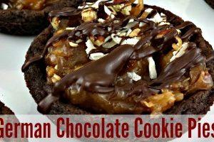 German Chocolate Cookie Pies feature