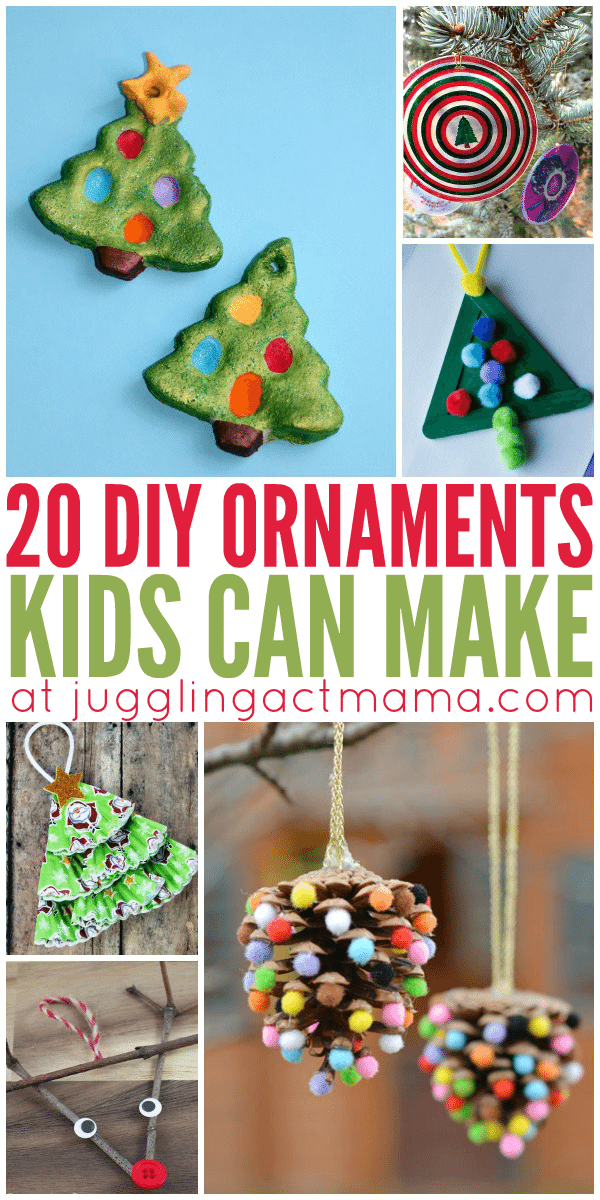 christmas ornaments kids can make at home