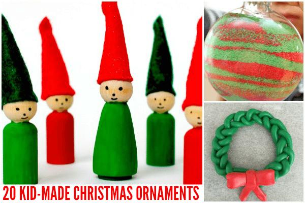 20 Kid-Made Christmas Ornaments