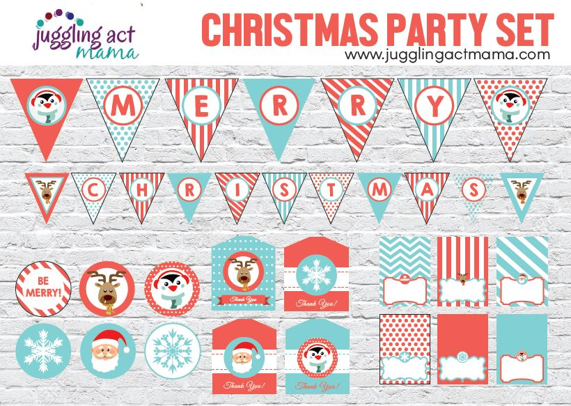 Christmas Party Printable Set - Juggling Act Mama