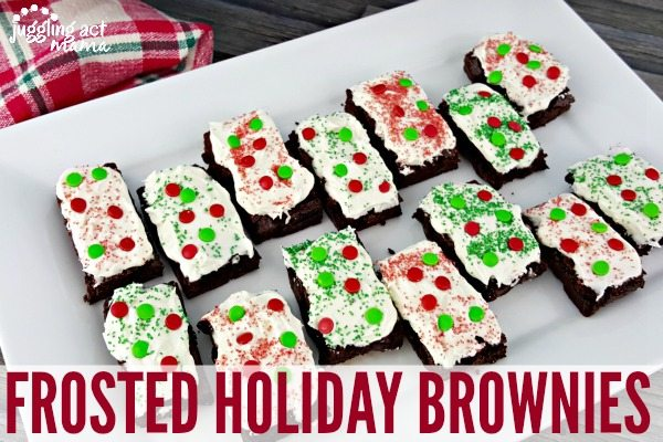 FROSTED HOLIDAY BROWNIES - a delicious and quick treat to make with the kids this holiday season