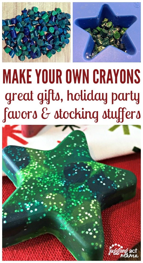 Make Your Own Crayons for Christmas - Juggling Act Mama