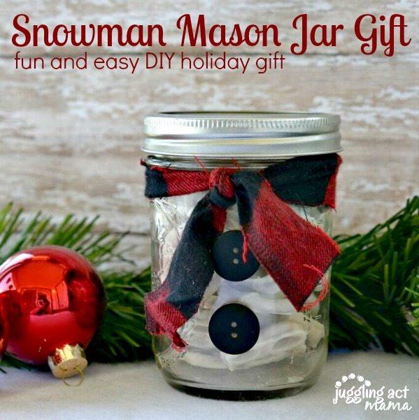 Snowman Mason Jar Gift
