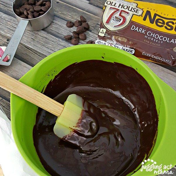 Two ingredient dark chocolate ganache