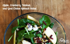 Apple, Cranberry, Walnut, and Goat Cheese Spinach Salad
