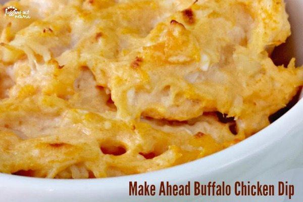 Make Ahead Buffalo Chicken Dip via Juggling Act Mama1