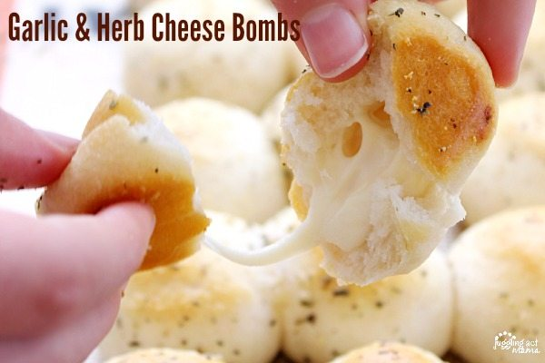 These Garlic & Herb Cheese Bombs make the perfect game day snack!