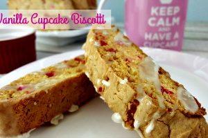Vanilla Cupcake Biscotti feature