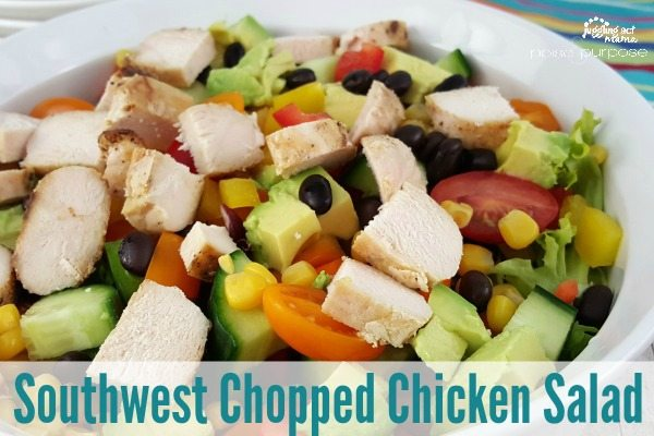 Delicious Southwest Chopped Chicken Salad