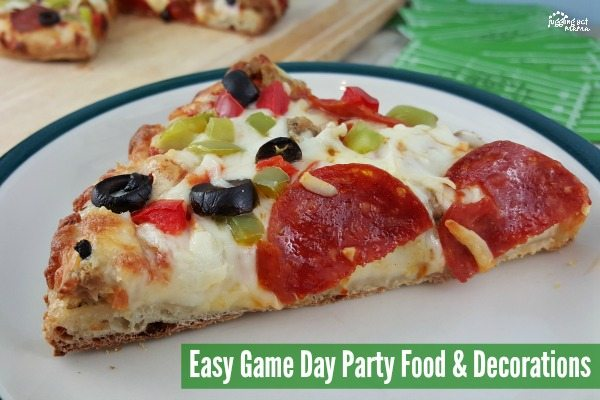 Easy Game Day Party Food & Decorations with@DiGiornoPizza #maketherightcall #CG #ad