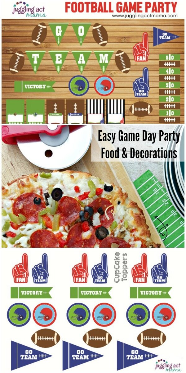 Easy Game Day Party Food and Decorations