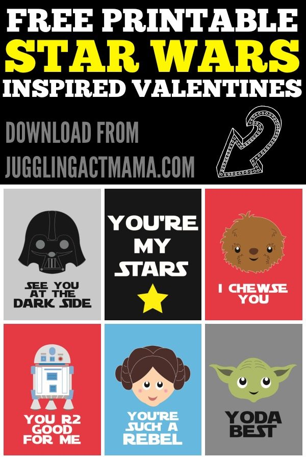Free Printable Star Wars Inspired Valentine Cards