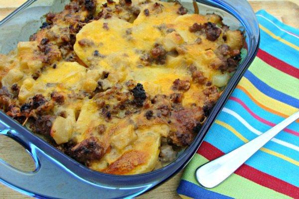 Potato Sausage Casserole 600x400