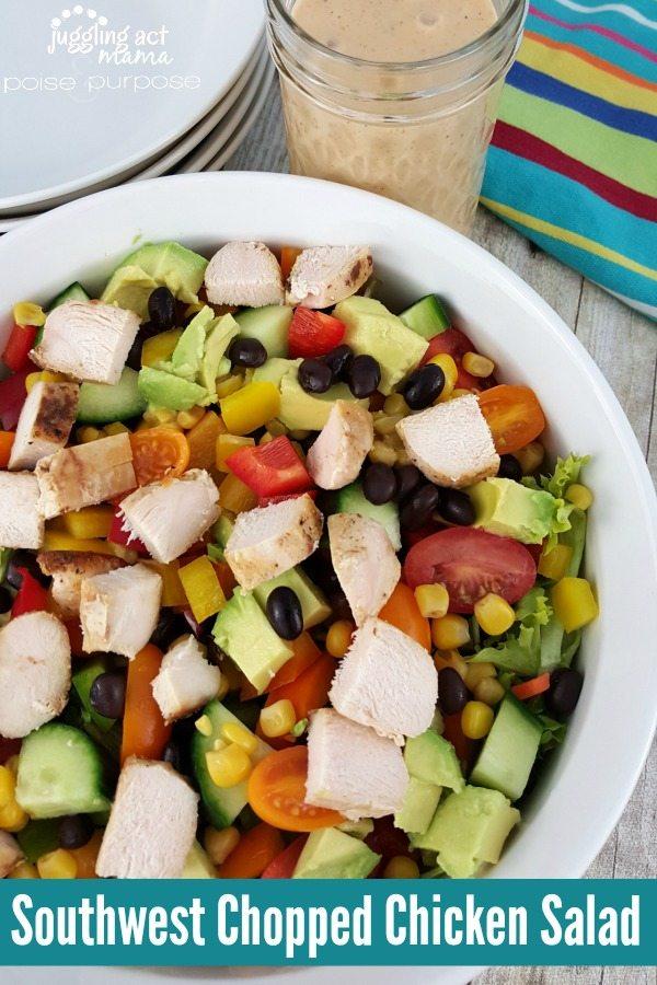 Southwest Chopped Chicken Salad