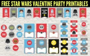 Star Wars Valentine Party Printables