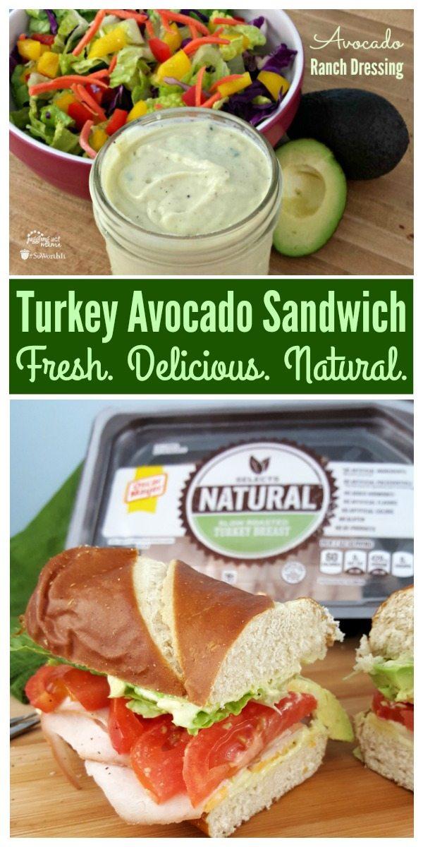 Turkey Avocado Sandwich #OscarMayerNatural #Sponsored Fresh. Delicious. Natural.