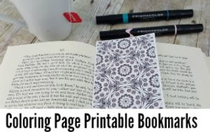 Coloring Page Printable Bookmarks