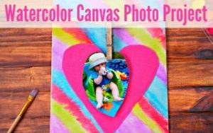 Watercolor Canvas Photo Project