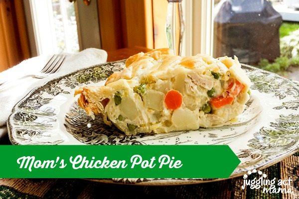 Mom's Chicken Pot Pie via Juggling Act Mama