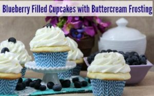Blueberry Filled Cupcakes
