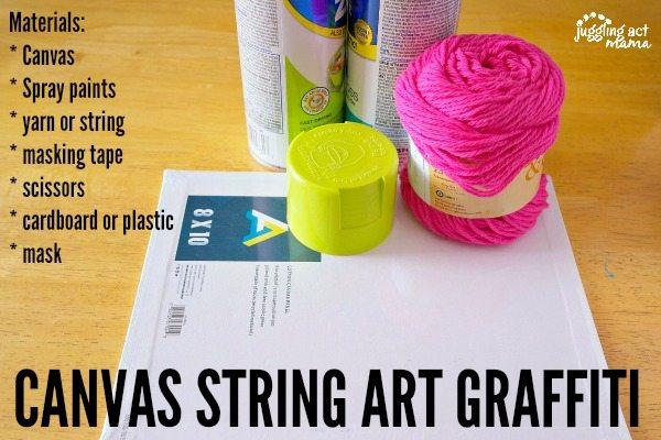 Canvas String Art Graffiti Materials