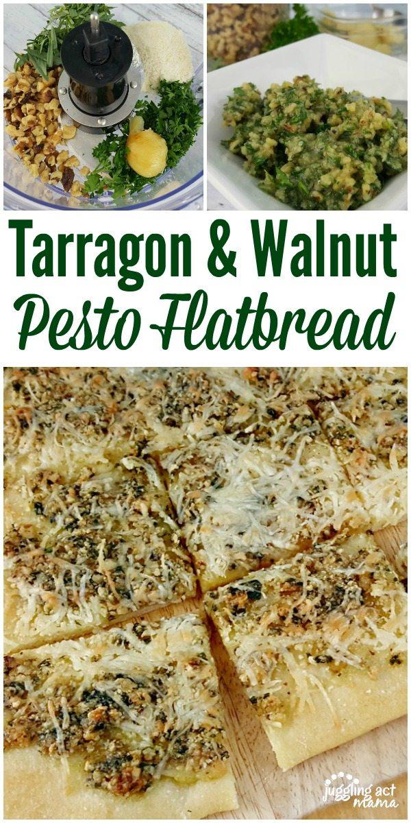 Tarragon & Walnut Pesto Flatbread