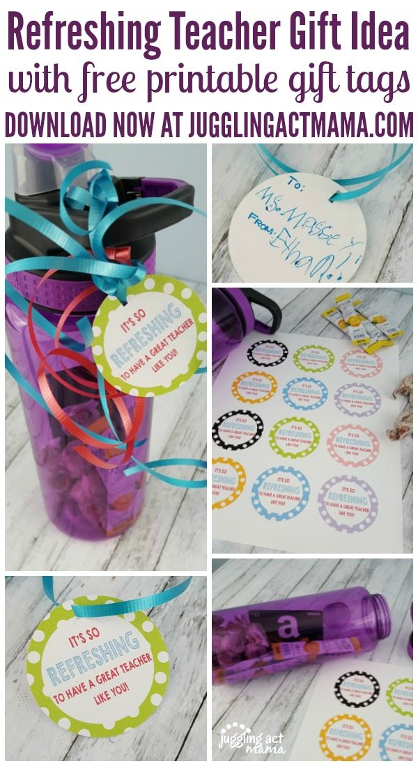 Refreshing Teacher Gift Idea with Free Printable Gift Tags #ThankATeacher