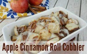 Microwave Apple Cinnamon Roll Cobbler