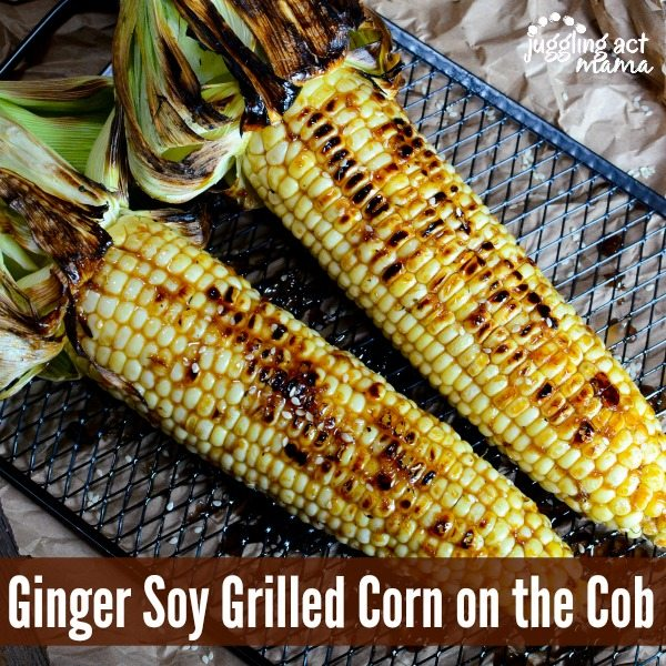 Asian Inspired Ginger Soy Grilled Corn via Juggling Act Mama