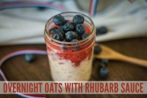 Overnight Oats with Rhubarb Sauce