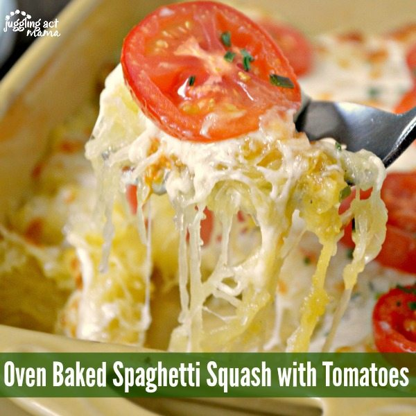 Oven Baked Spaghetti Squash with Tomatoes