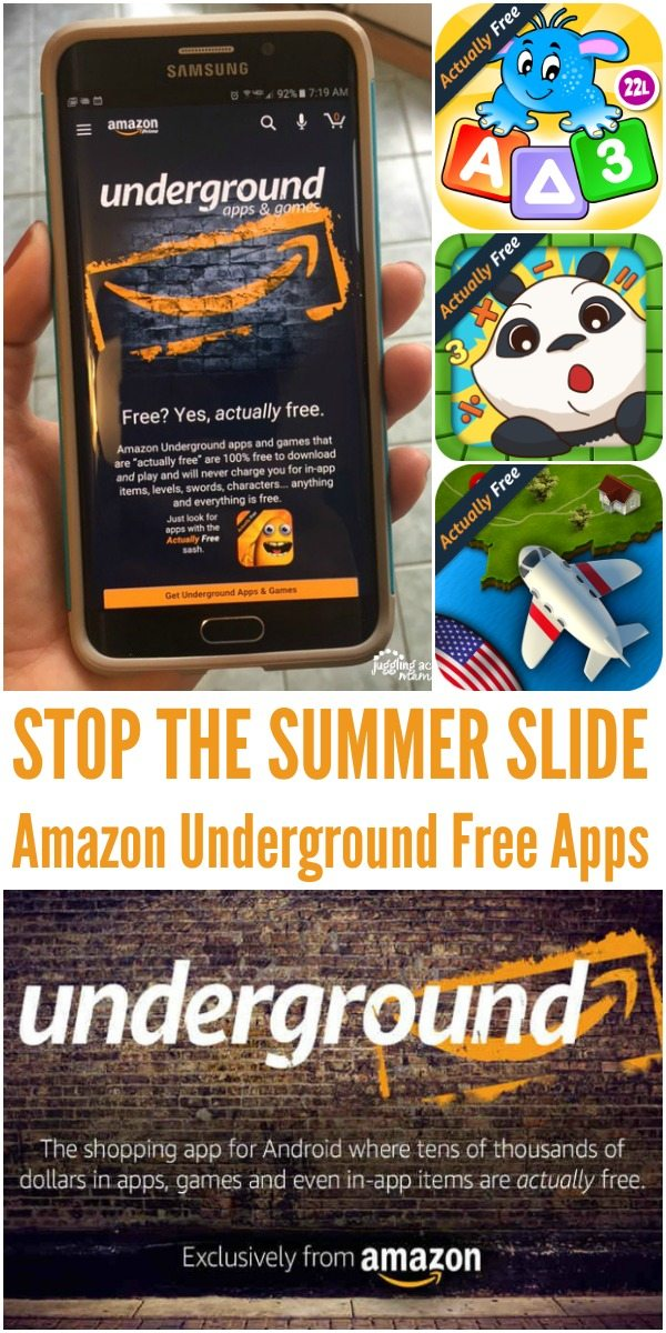 STOP THE SUMMER SLIDE: Amazon Underground Free Apps