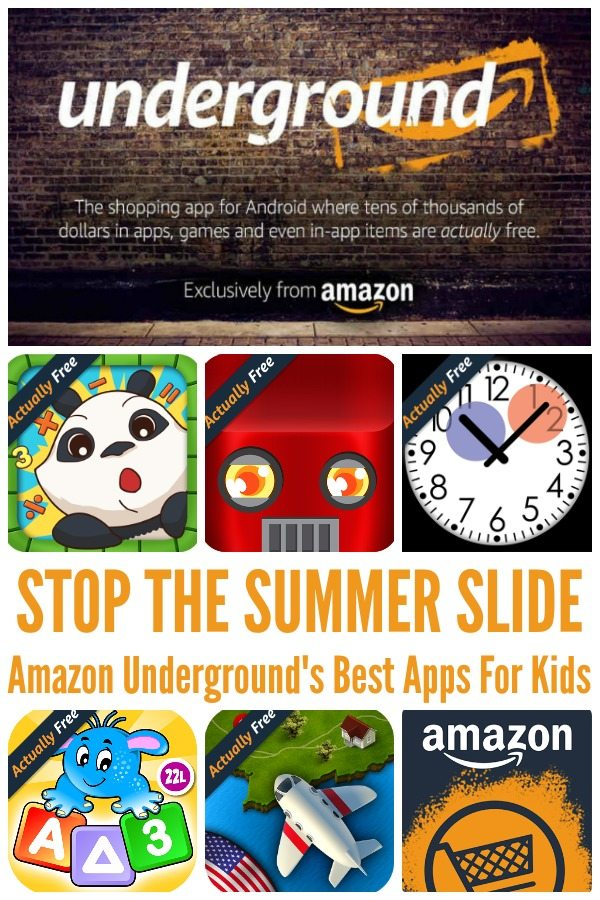 STOP THE SUMMER SLIDE Amazon Underground's Best Apps For Kids
