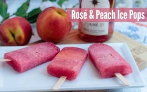 Rosé & Peach Ice Pops