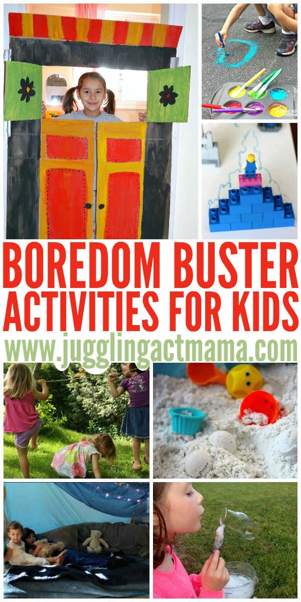 "Fun activities for whenever you hear the kids say, ""Mom, I'm bored!"""