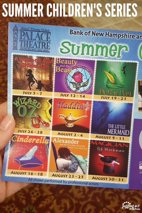 SUMMER CHILDREN'S SERIES #sponsored #PalaceTheater #NH
